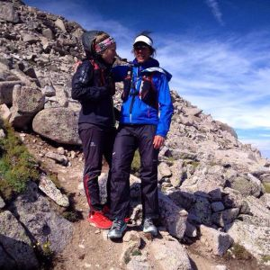 Frost and Gosney on top of Mt. Shavano, the final peak of Nolan's 14